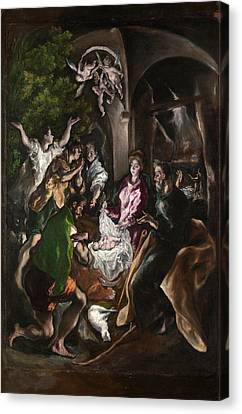 The Adoration Of The Shepherds Canvas Print by El Greco