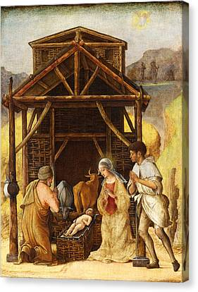 The Adoration Of The Shepherds Canvas Print by Ercole de Roberti