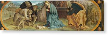 The Adoration Of The Shepherds Canvas Print by Luca Signorelli