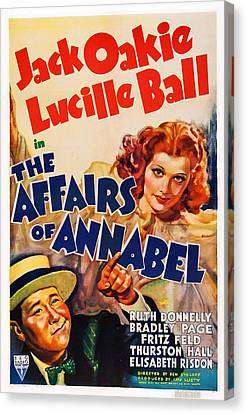 The Affairs Of Annabel, Us Poster Canvas Print by Everett