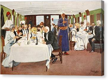 The After-dinner Speech, From The Light Canvas Print by Lance Thackeray