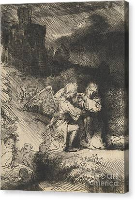 The Agony In The Garden Canvas Print by Rembrandt