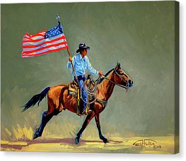 The All American Cowboy Canvas Print by Randy Follis
