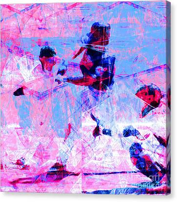 The All American Pastime 20140501 Square V2 Canvas Print by Wingsdomain Art and Photography
