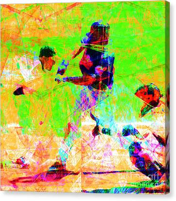 The All American Pastime 20140501 Square Canvas Print by Wingsdomain Art and Photography