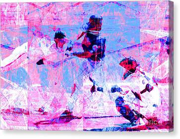 The All American Pastime 20140501 V2 Canvas Print by Wingsdomain Art and Photography