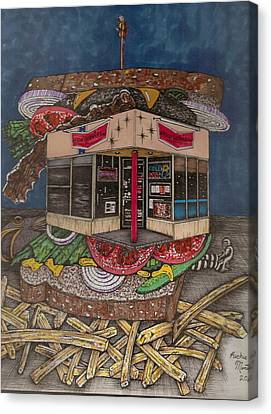 The All Star Sandwich Bar Canvas Print by Richie Montgomery