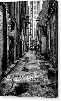 The Alleyway In Market Square - Knoxville Tennesse Canvas Print by David Patterson