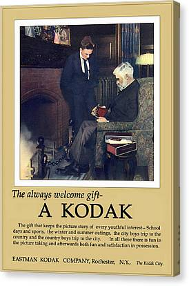 The Always Welcome Gift. Circa 1915. Canvas Print by Unknown Photographer