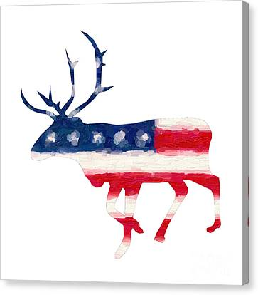 The American Elk Canvas Print by Adam Asar