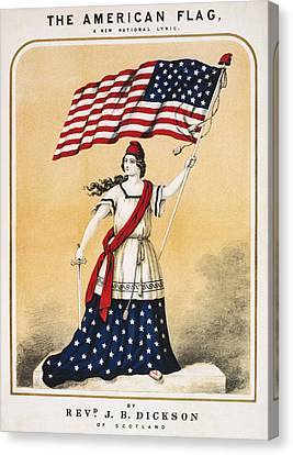 The American Flag A New National Lyric Canvas Print by Aged Pixel