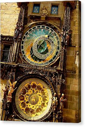 The Ancient Of Clocks Canvas Print by Ira Shander