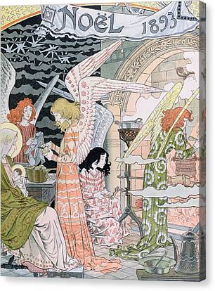 The Angels Kitchen Canvas Print by Eugene Grasset