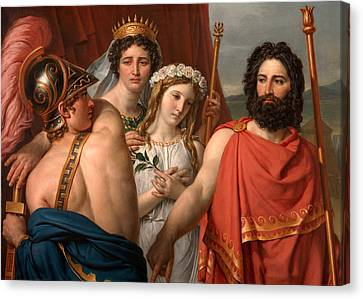 The Anger Of Achilles Canvas Print by Jacques-Louis David