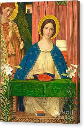 The Annunciation Canvas Print by Arthur Joseph Gaskin