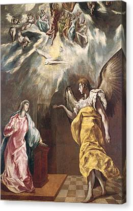 The Annunciation Canvas Print by El Greco Domenico Theotocopuli