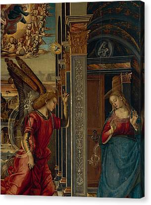 The Annunciation Canvas Print by Luca Signorelli