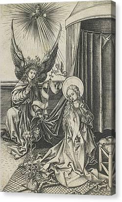 The Annunciation Canvas Print by Martin Schongauer