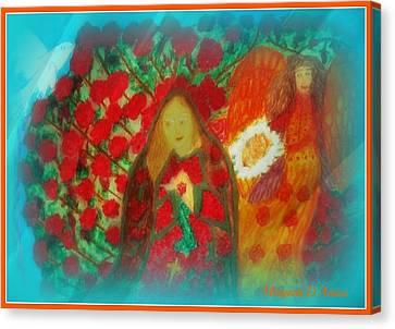 The Annunciation Canvas Print by Maryann  DAmico