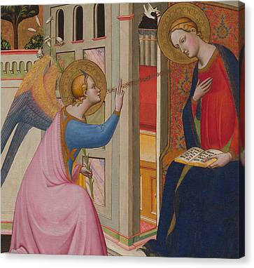 The Annunciation Canvas Print by Master of Saint Verdiana