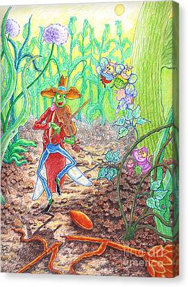 The Ant And The Grasshopper Canvas Print by Teodora Reytor