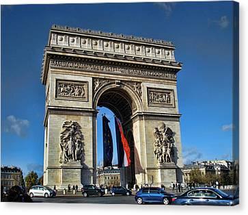 The Arc De Triomphe De Etoile  Canvas Print by Paris  France