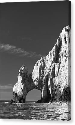 The Arch In Black And White Canvas Print by Sebastian Musial