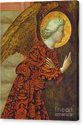 The Archangel Gabriel Canvas Print by Tommaso Masolino da Panicale