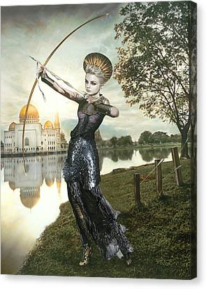 The Archer Canvas Print by Vic Lee
