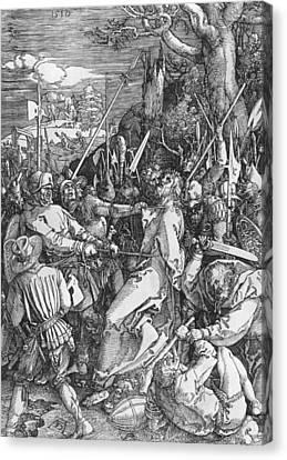 The Arrest Of Jesus Christ Canvas Print by Albrecht Durer or Duerer