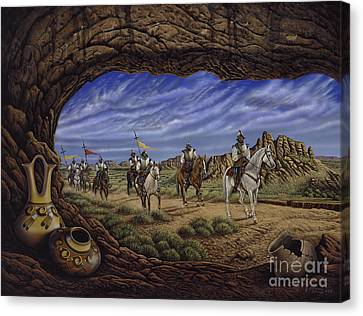 The Arrival Canvas Print by Ricardo Chavez-Mendez
