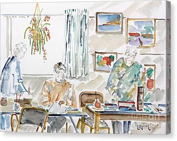 The Art Club Canvas Print by Phong Trinh