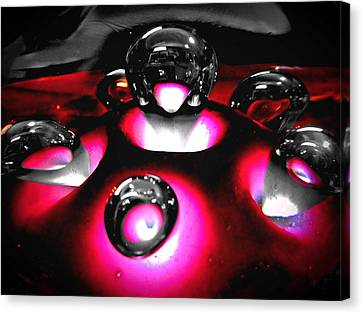 Art Glass Project-2 Fuchsia Lampwork Canvas Print by Susan Maxwell Schmidt