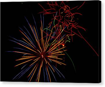 The Art Of Fireworks  Canvas Print by Saija  Lehtonen