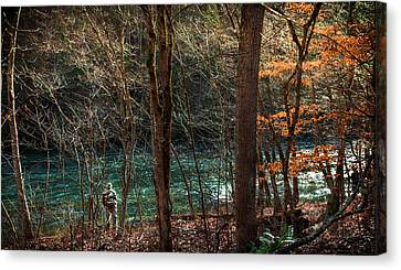 The Art Of Fly Fishing Canvas Print by Karen Wiles