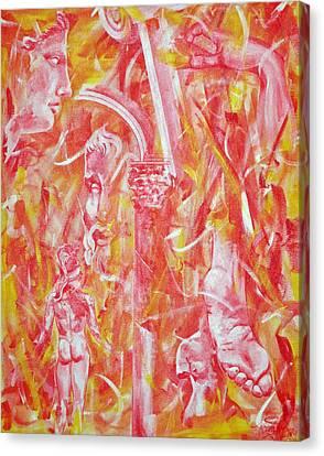 The Art Of Sculptures Canvas Print by Konni Jensen