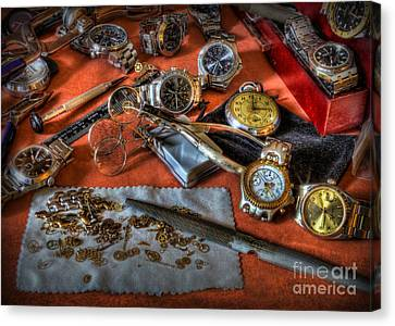 The Art Of The Timepiece - Watchmaker  Canvas Print by Lee Dos Santos