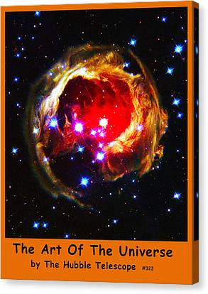 The Art Of The Universe 323 Canvas Print by The Hubble Telescope