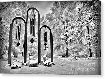 The Art Of Winter - Greensboro North Carolina Canvas Print by Dan Carmichael