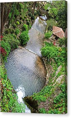 The Artificial River From Balchik Botanical Garden Canvas Print by Cristina-Velina Ion