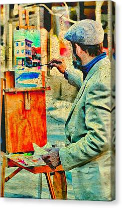 The Artist Canvas Print by Diana Angstadt