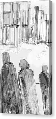 The Artist In The City Canvas Print by Ruth Clotworthy