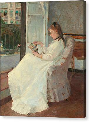 The Artist's Sister At A Window Canvas Print by Berthe Morisot