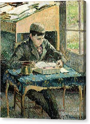 The Artists Son Canvas Print by Camille Pissarro