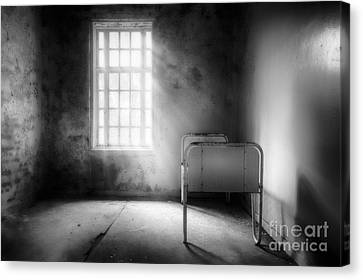 The Asylum Project - Empty Bed Canvas Print by Erik Brede