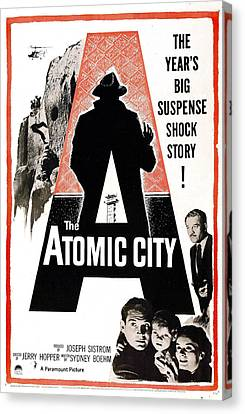 The Atomic City, Us Poster, Bottom Canvas Print by Everett