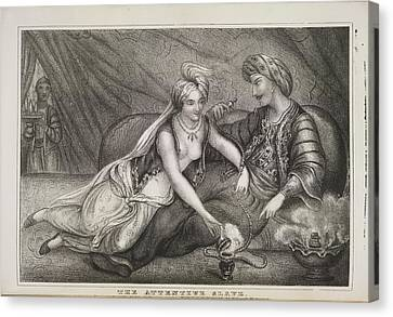 The Attentive Slave Canvas Print by British Library