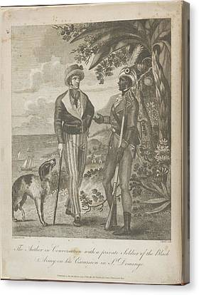 The Author In Conversation Canvas Print by British Library