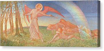 The Awakening Canvas Print by Phoebe Anna Traquair