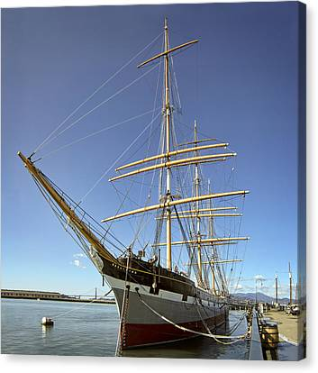 The Balclutha Historic 3 Masted Schooner - San Francisco Canvas Print by Daniel Hagerman